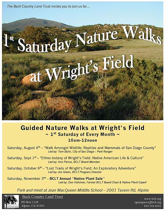 Wrights Field 1st Saturday Nature Walks