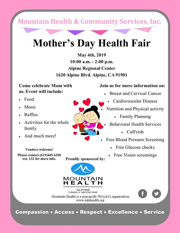 All Are Welcome Mother S Day Health Fair Event At Mountain Health