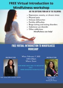"""FREE Virtual """"Introduction to Mindfulness"""" Workshop with Laurie Hallihan @ Introduction to mindfulness"""