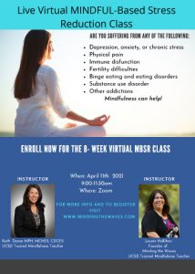 8 Week Live VIRTUAL MINDFUL-Based Stress Reduction Workshop with Laurie Hallihan @ Introduction to mindfulness