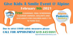 Alpine Pediatric Dentistry to Provide Free Dental Care for Children in Alpine and Surrounding Areas Through Give Kids A Smile® Day Event @ Alpine Pediatric Dentistry
