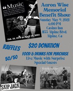 Aaron Wise Memorial Benefit Show with Live Bands at the Casino Inn @ The Casino Inn