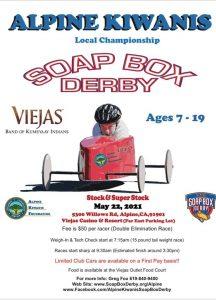 Alpine Kiwanis SOAP BOX DERBY (Ages 7-19) @ The Park at Viejas Casino & Resort   Alpine   California   United States