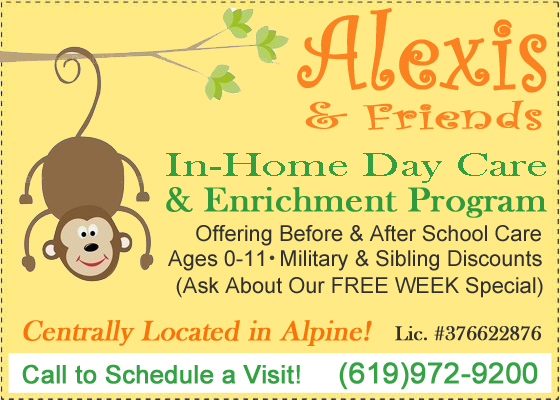 Alexis &amp; Friends in-home day care &amp; Enrichment program alpine ca 91901