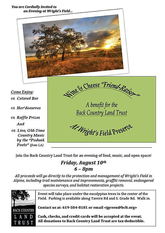 Back Country Land Trust Wright's Field Fundraiser