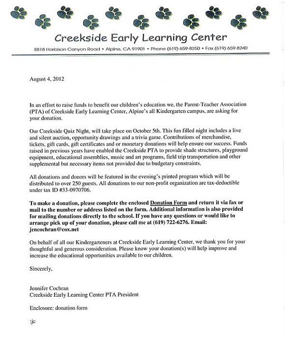 Creekside Early Learning Center Is Seeking Donations For