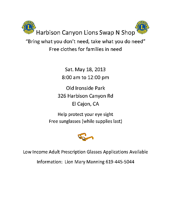 Harbison Canyon Lions Swap N Shop13 5 18_opt