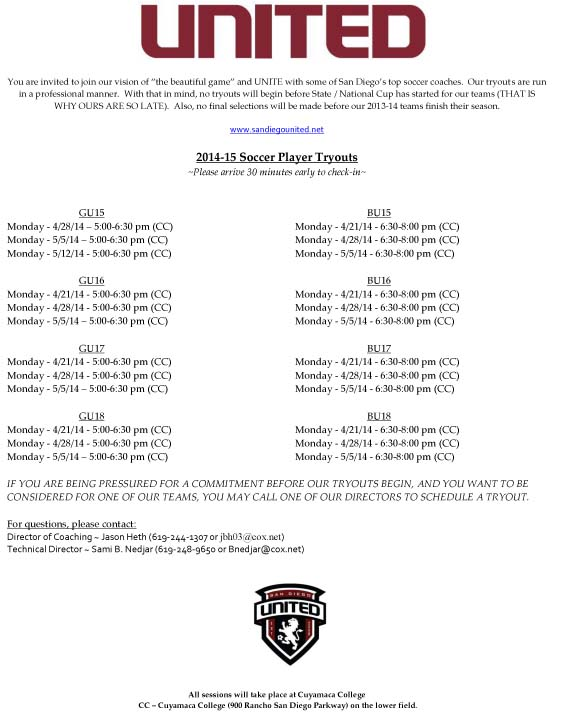 United Soccer_Tryout Flyer May 2014_2